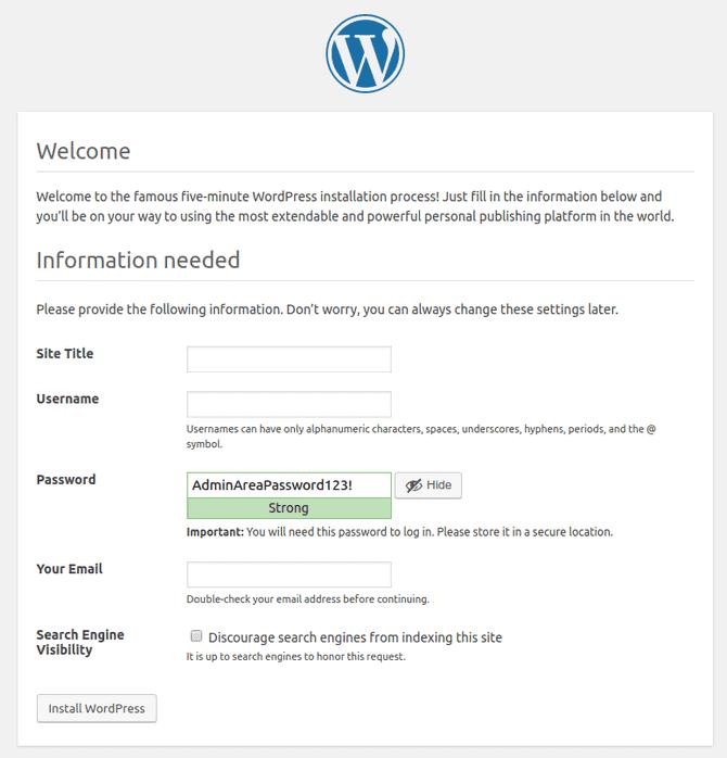 Site Information Setup